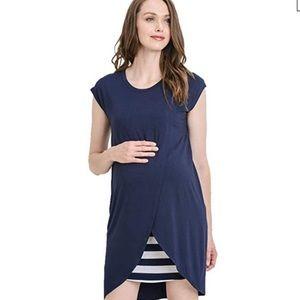 Nursing dress size Small navy stripe